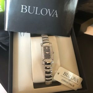 NWT in box Ladies Bulova Crystal accent watch